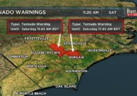 NWS issues Tornado Warning for Pender and Sampson Counties until 11:45 am .