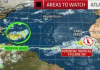3rd hurricane of season in Atlantic predicted by Sunday