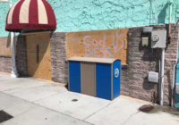 Carolina Beach boardwalk businesses boarded up in preparation for Florence