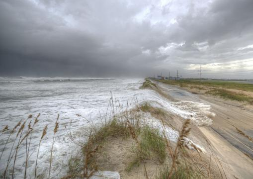 Florence causes ocean overwash on Outer Banks