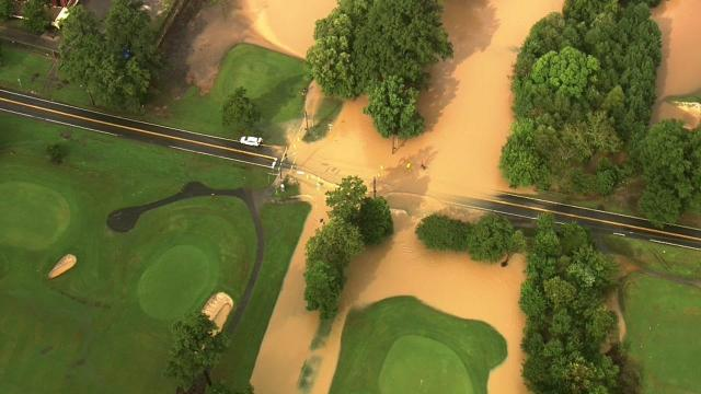 Hillandale Golf Course in Durham is flooded