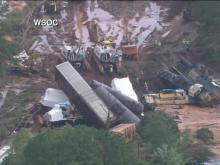 Train derailed in Anson County