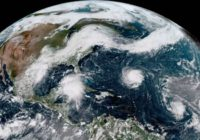 Satellite images show hurricanes lined up in Atlantic Ocean