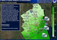 Flash flood watch continues across parts of Greater Houston area