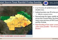 Flash flood watch issued ahead of weekend storm that could lead to wettest September in S.A. history