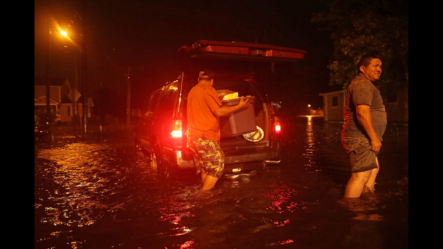 Some parts of New Bern could be flooded with a possible 9-foot storm surge as the Category 2 hurricane approaches the United States. (Photo by Chip Somodevilla/Getty Images)
