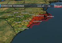First Alert Forecast: dangerous Florence nearing Carolina coast