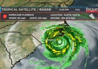 First Alert Forecast: Florence a tropical depression, moving away from Cape Fear