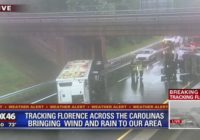Truck overturns on I-85 during Florence