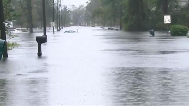 Flooding in Jacksonville, NC