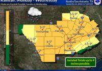 NWS warns of renewed flooding risk ahead of mid-week storms