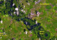Satellite images show extent of Neuse River flooding in Goldsboro, NC