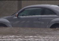 Flooded cars back on the road
