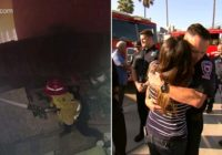 California resident meets firefighter who saved her home from wildfire