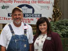 Larry Smith with Jennifer Greene, Executive Director of the NC Christmas Tree Association