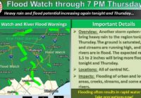 Flood watch for much of NC, central SC as more rain heads east