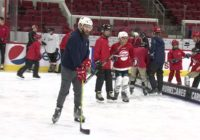 Carolina Hurricanes help blind athletes learn to play hockey