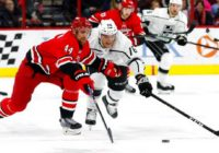 Hamilton scores twice, Hurricanes rout Kings 6-1