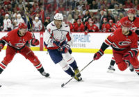 Carolina Hurricanes battle the Washington Capitals
