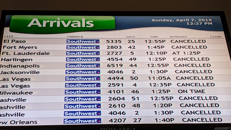 Hobby Airport cancels flights due to severe weather