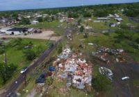 Saturday storms produced a tornado that tore through an East Texas town