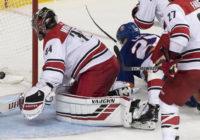 Hurricanes battle Islanders in game 1 of playoff series