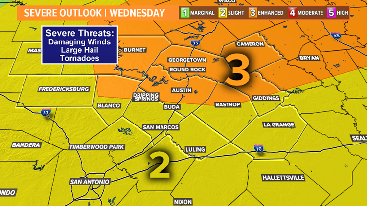 Severe Outlook Wednesday