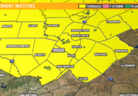 Timeline: Tornado watch until 8 p.m. for much of Central Texas