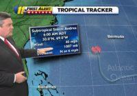 Subtropical storm Andrea forms near Bermuda
