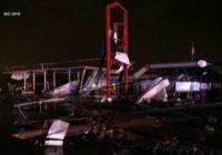 A 'violent tornado' has touched down in Jefferson City, Missouri