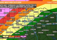 Tornado outbreak from Oklahoma into Texas Panhandle