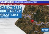 Major flooding expected along the Colorado River at Bastrop