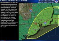 Houston under flash flood watch through 7 p.m.
