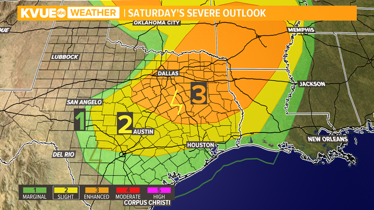Strong to severe storms possible across Central Texas