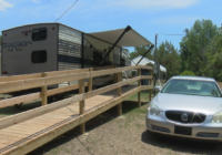 Florence victims face 100-degree days in FEMA trailers