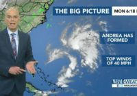 Subtropical storm Andrea expected to weaken in coming days