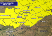 Tornado watch until 8 p.m. for much of Central Texas