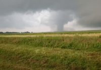 Large tornado reported in Mangum, Oklahoma