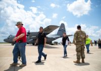 Texas Air National Guard conduct hurricane air emergency evacuation drill