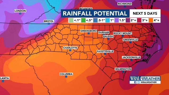 2-4 inches of rain through June 10, 2019