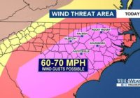 70 mph wind gusts possible this afternoon during severe weather