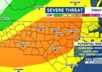 Stay alert: Risk for severe weather increases across central NC
