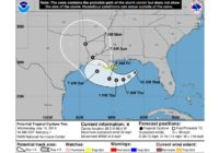 Tropical update: First forecast cone issued – portions of Louisiana under Tropical Storm Watch