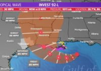 Tropical update: Houston on edge of latest forecast cone | Part of Louisiana under Hurricane Watch