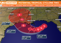 Tropical system strengthening in the Gulf, expected to become hurricane