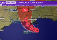 Tropical Storm Barry forecast to make landfall in Louisiana