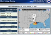 Hurricane Barry could produce rain, thunderstorms in Houston Saturday