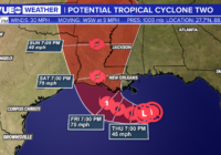 Tropical disturbance continues to strengthen in the Gulf of Mexico, expected to become hurricane