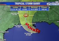 Tropical Storm Barry forms in Gulf of Mexico
