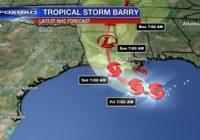 Tropical Storm Barry heads for Louisiana
